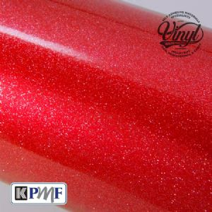 Red Heavy Glitter Metal Flake Vinyl - Professional Cast Vehicle Wrap K75052